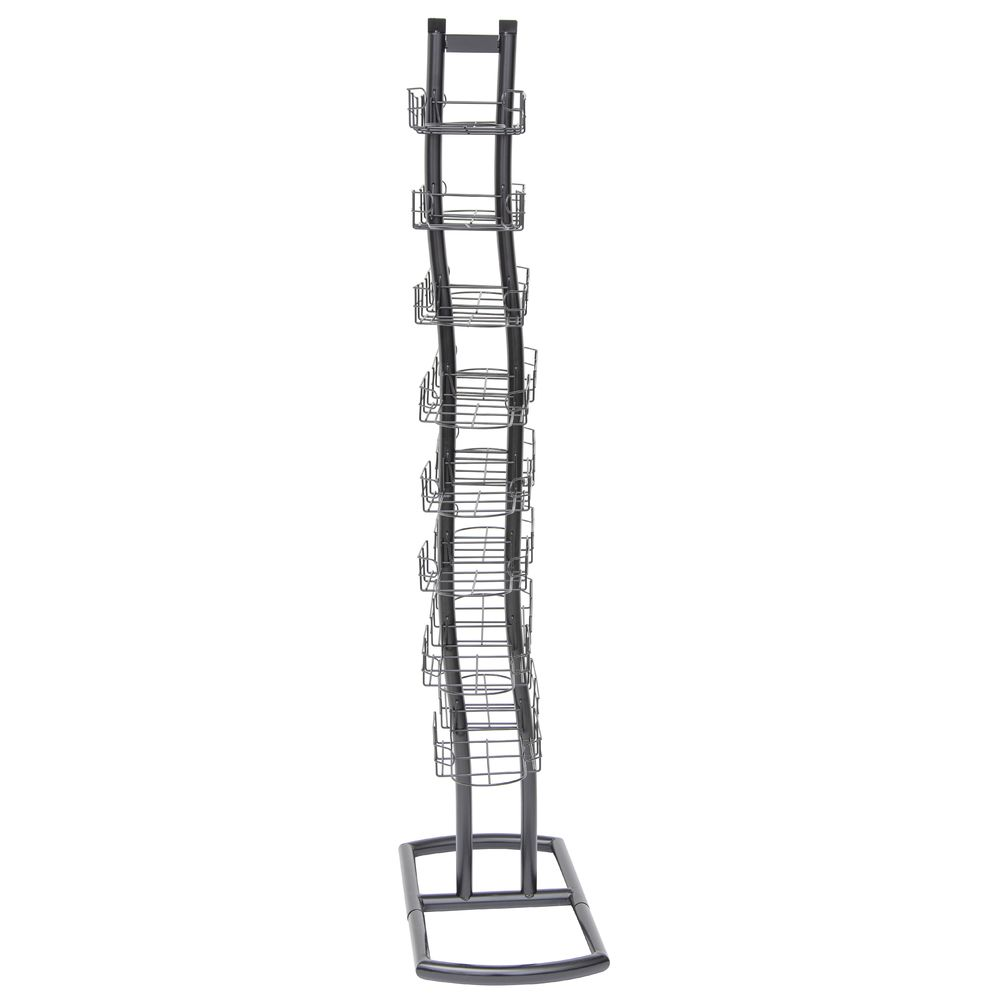 RACK, CAP TOWER, TWO-SIDED, WAVE DESIGN, BLK