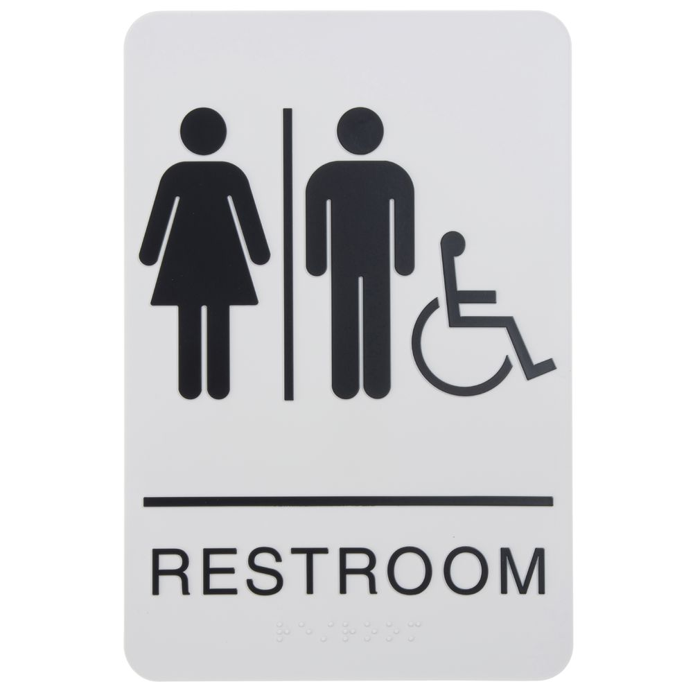 Ada Compliant Wheelchair Accessible Unisex Restroom Sign Taupe