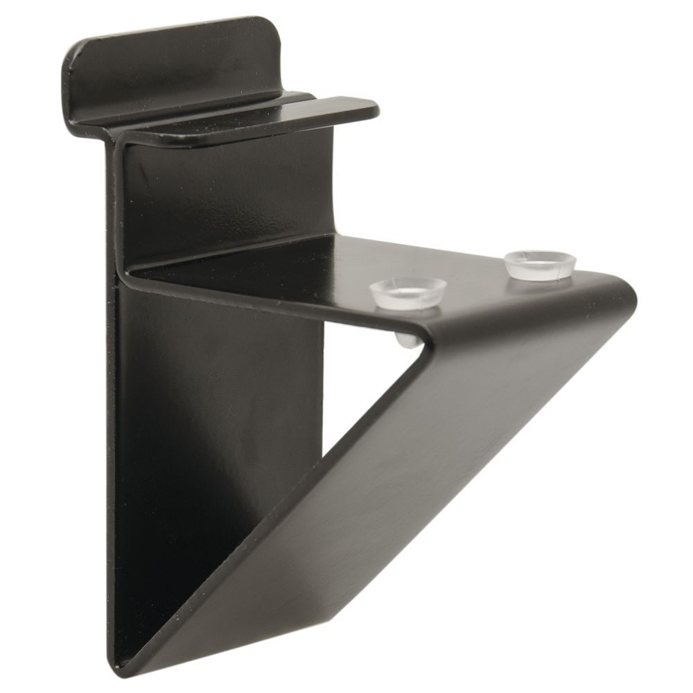 low profile shelf bracket for 1 wood shelves black. Black Bedroom Furniture Sets. Home Design Ideas