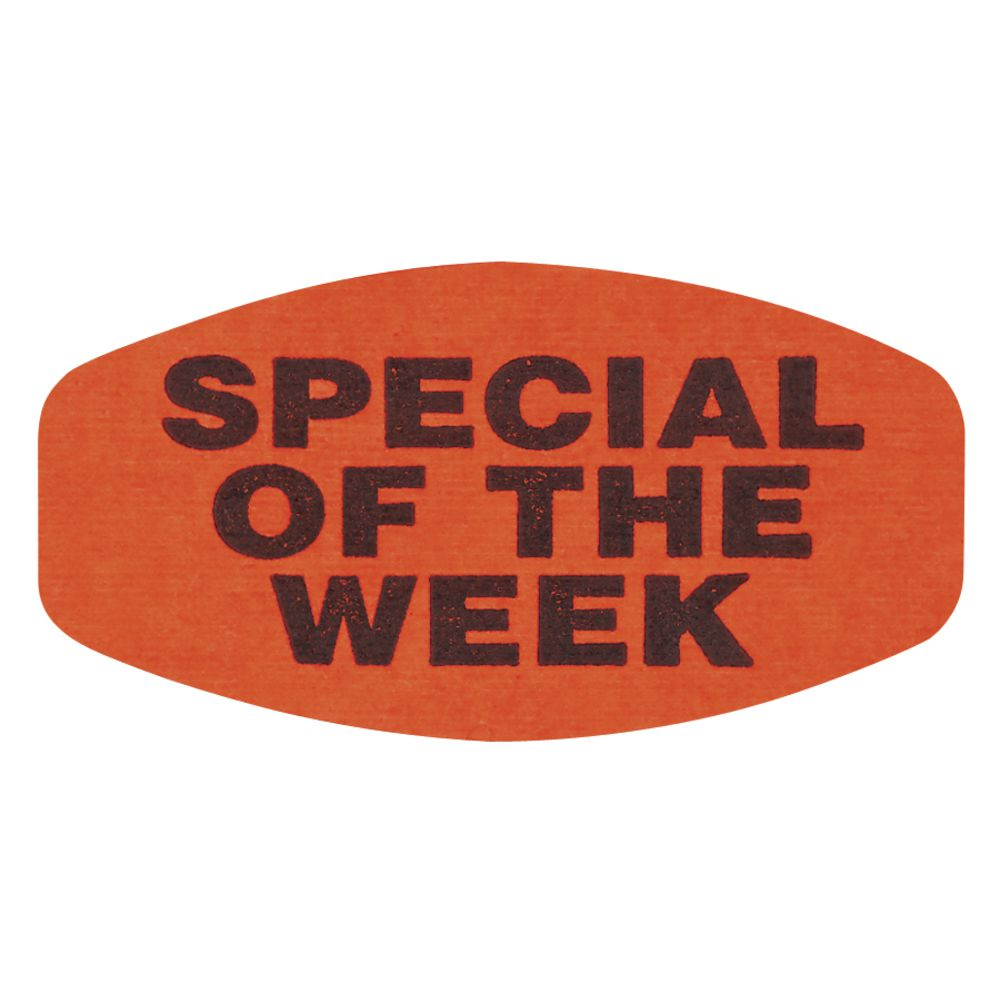 Special of the Week Fluorescent Grabber Grocery Store Labels