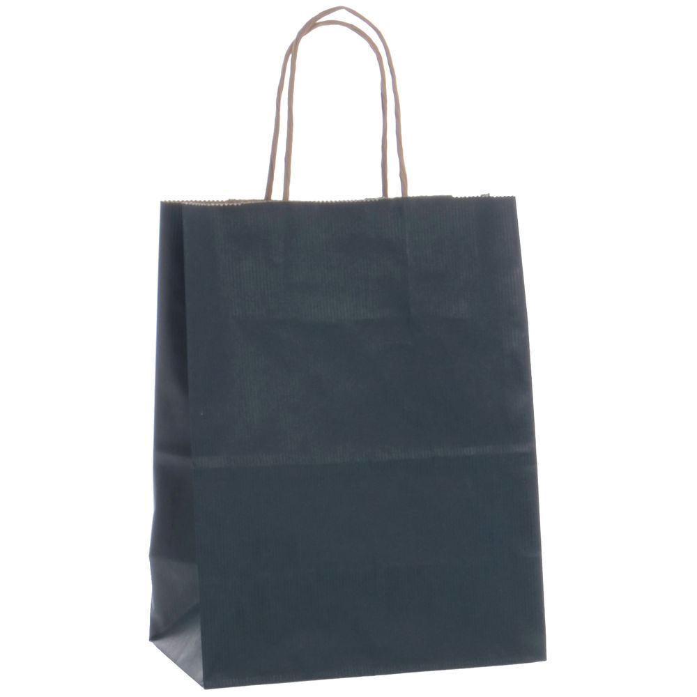 Kraft Paper Shopping Bags with Twisted Rope Handles