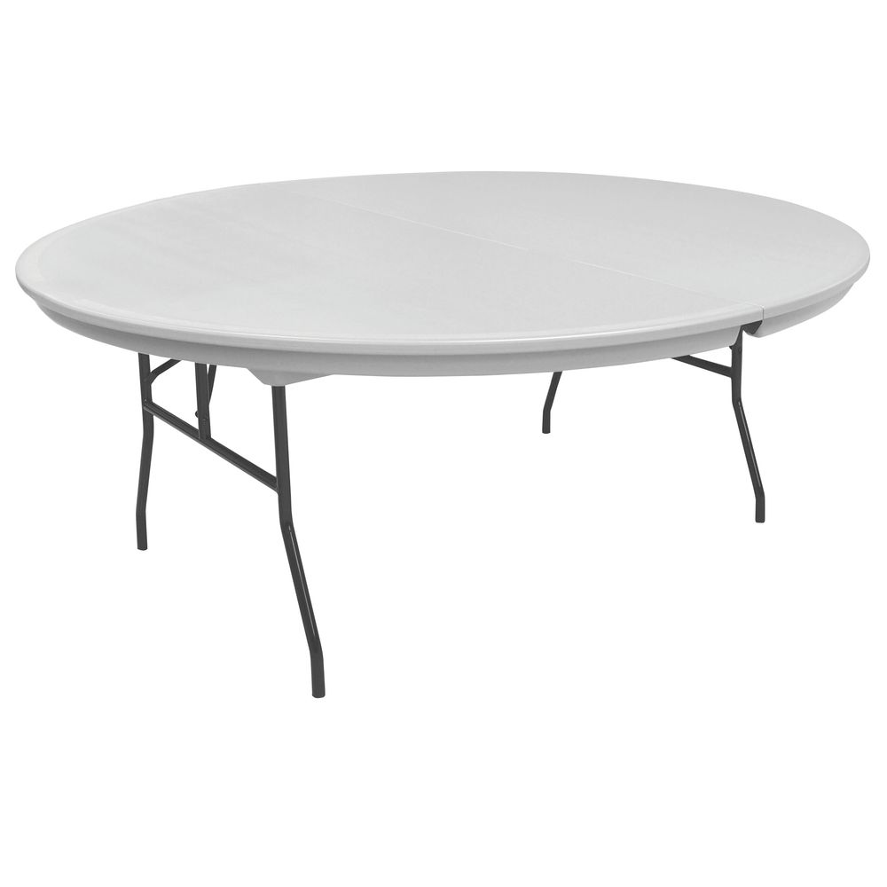 "TABLE, FOLDING, PLASTIC, GREY, 72""RNDX30""H"