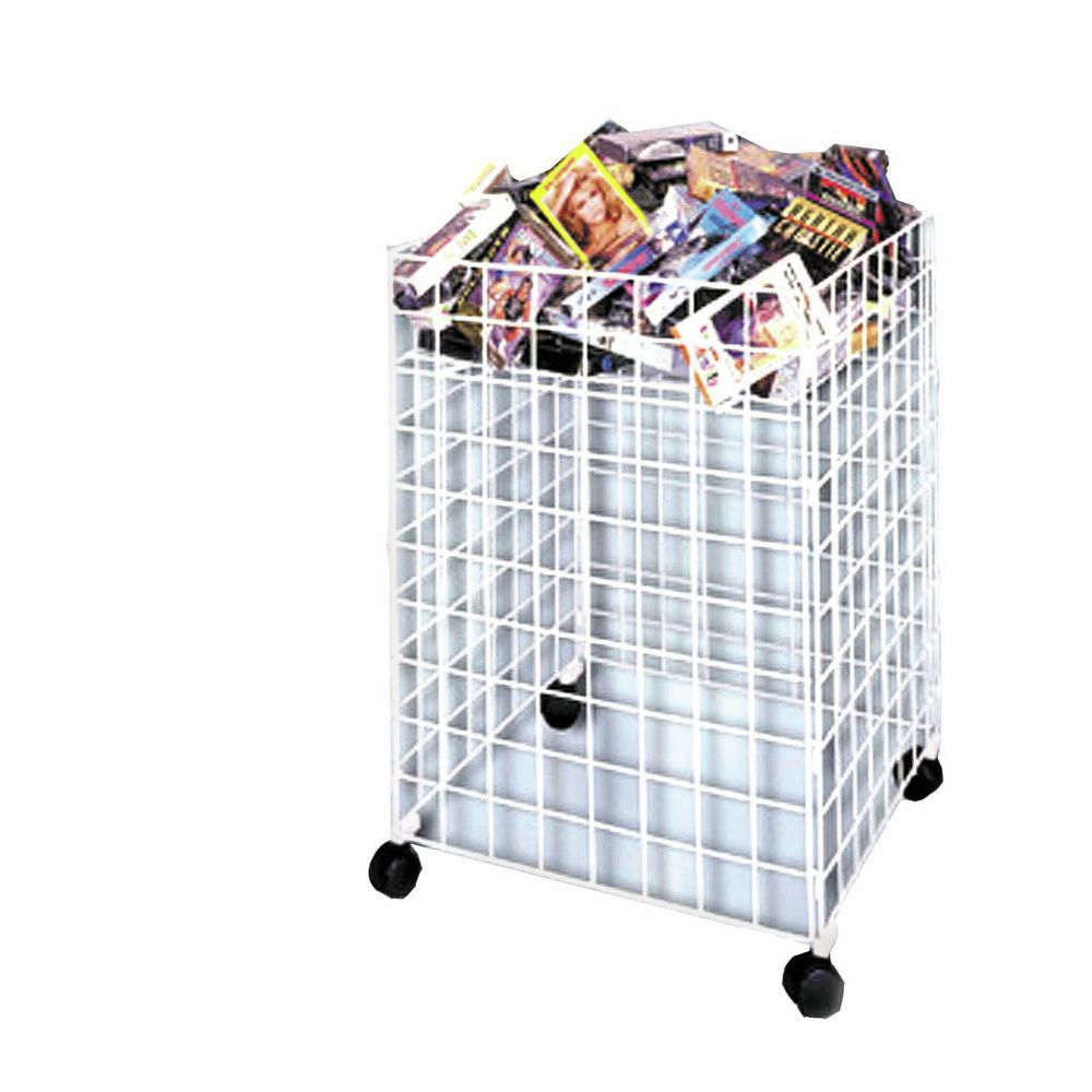 Wire Bins with Adjustable Shelf Levels