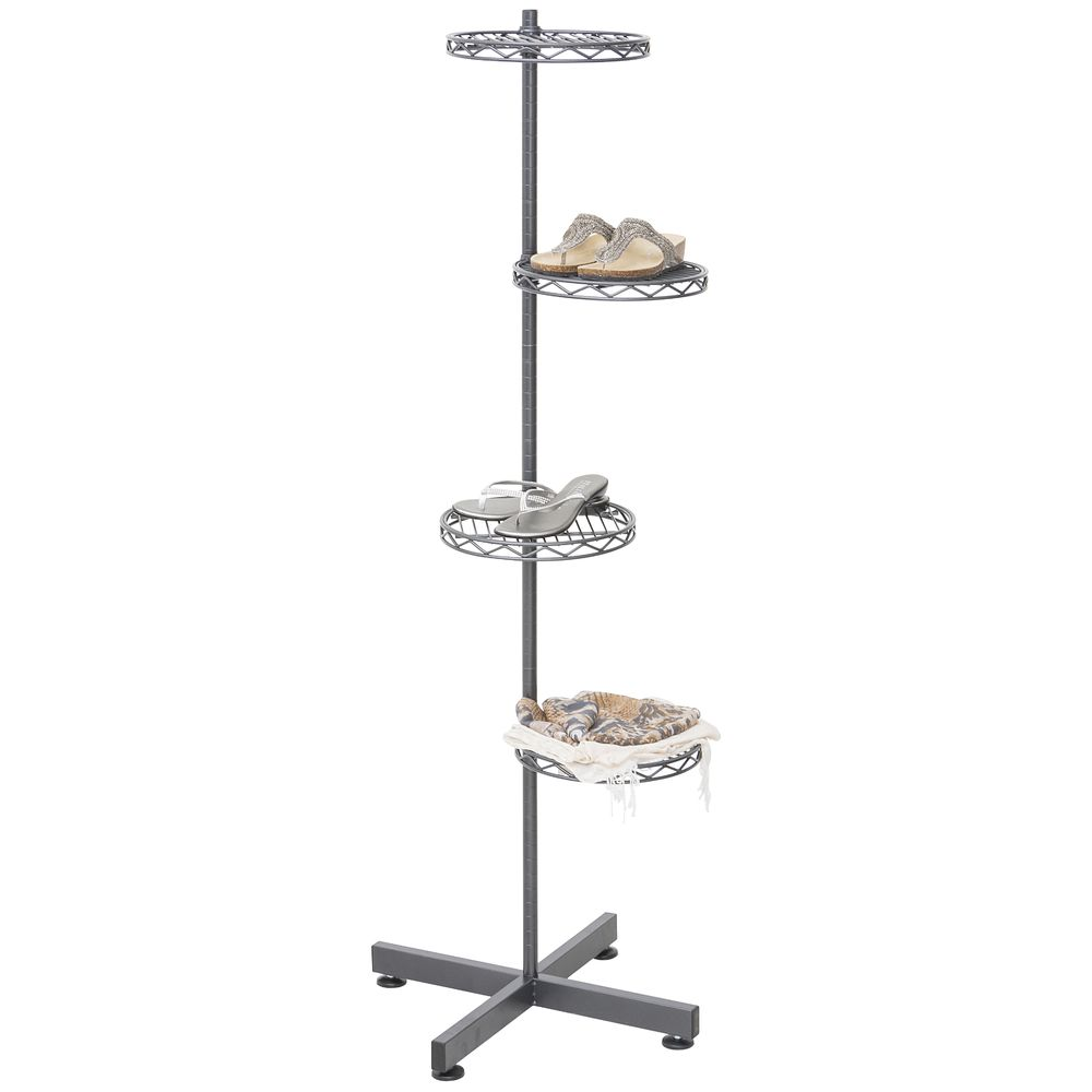 4 Tier Shelving Unit is the Perfect Display Solution for Small Spaces
