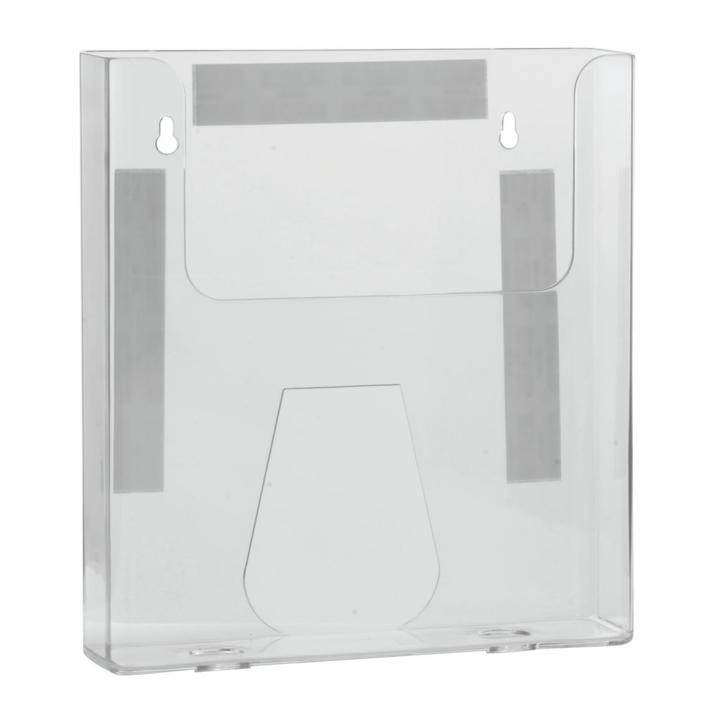 Wall Mount Literature Holder Clear Acrylic