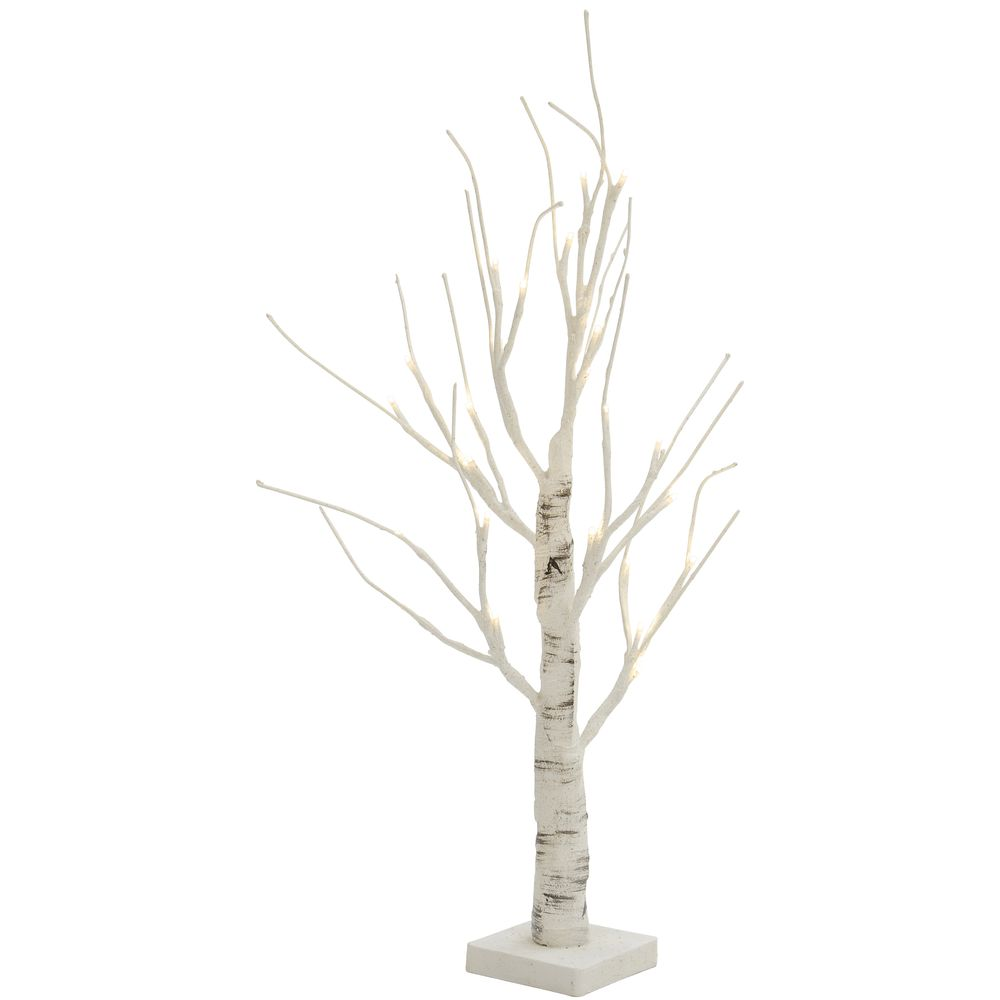 Small LED Birch Tree, White
