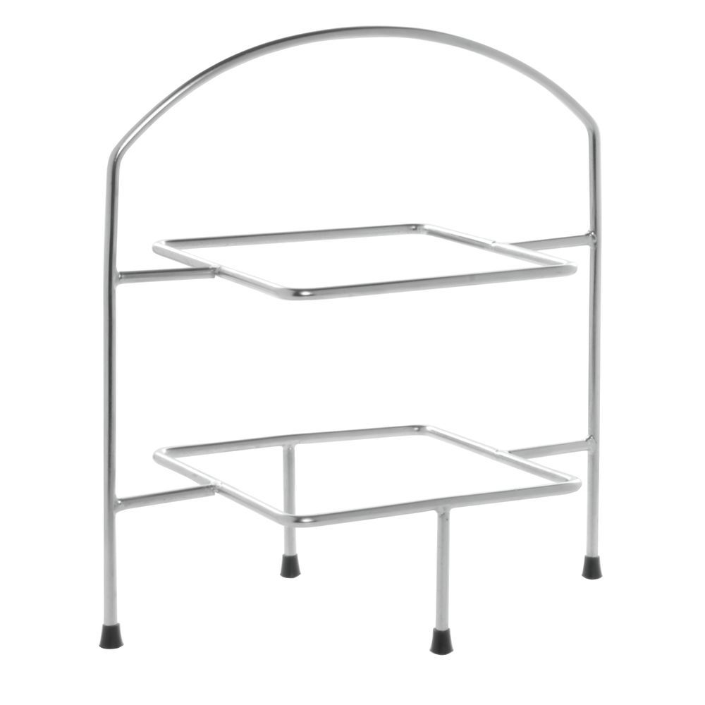 STAND, 2-TIER, SQUARE, S/S