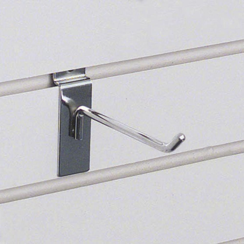 "4"" Chrome Slatwall Hooks"