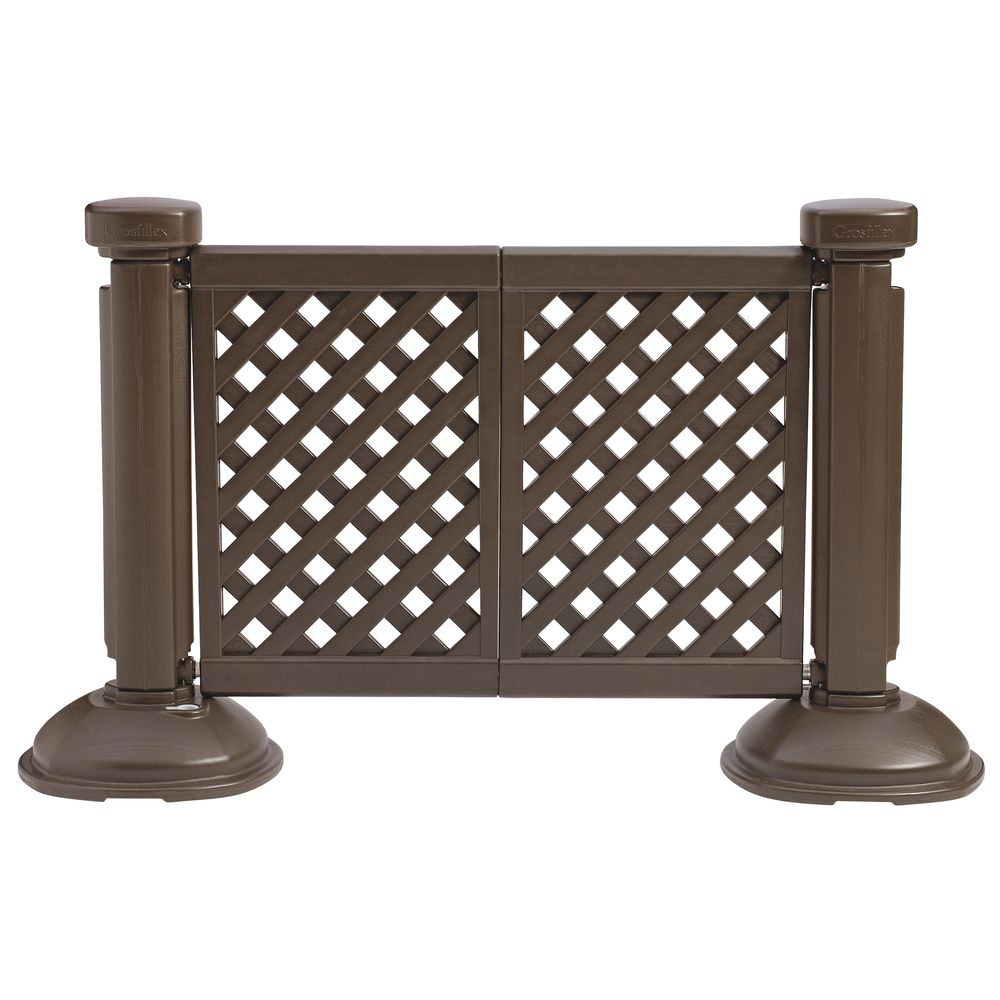 FENCE PANEL, 2 PANEL SECTION, BROWN