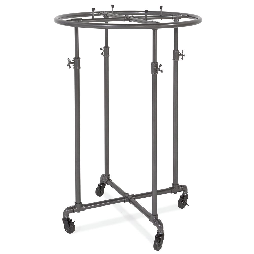 ROUND RACK, PIPELINE, GREY, ADJUSTABLE, 36""