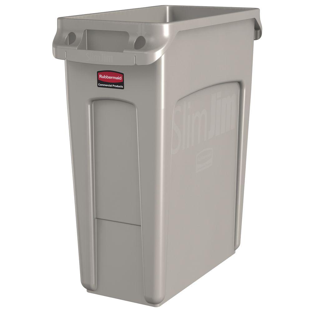 Rubbermaid Slim Jim Vented Commercial Garbage Can 16 Gal 23