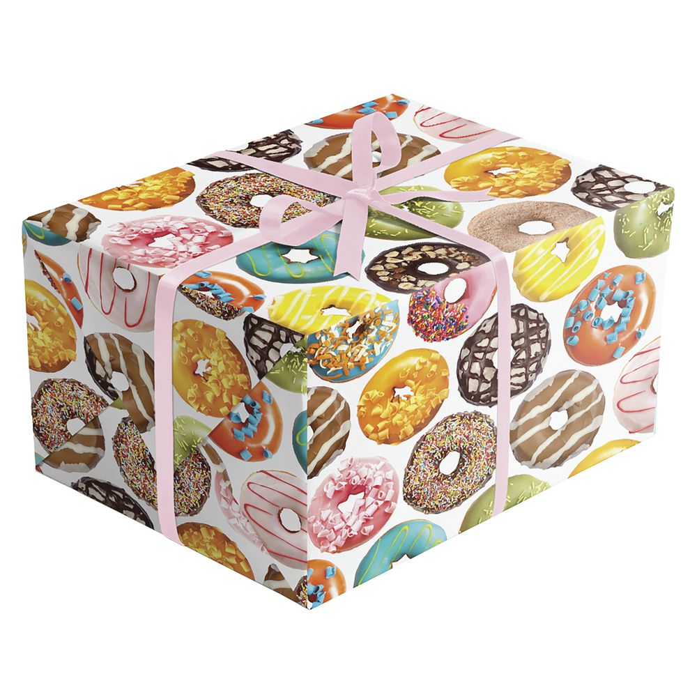 """GIFT WRAP, DONUTS, QUARTER ROLL, 30""""W"""