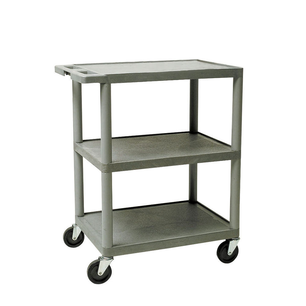 34x32 Grey HDPE Plastic Shelf Cart