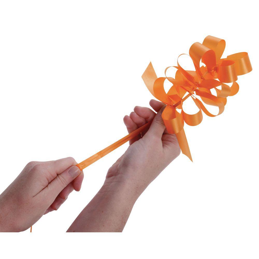 4 (W) Tropical Orange Pull Bows