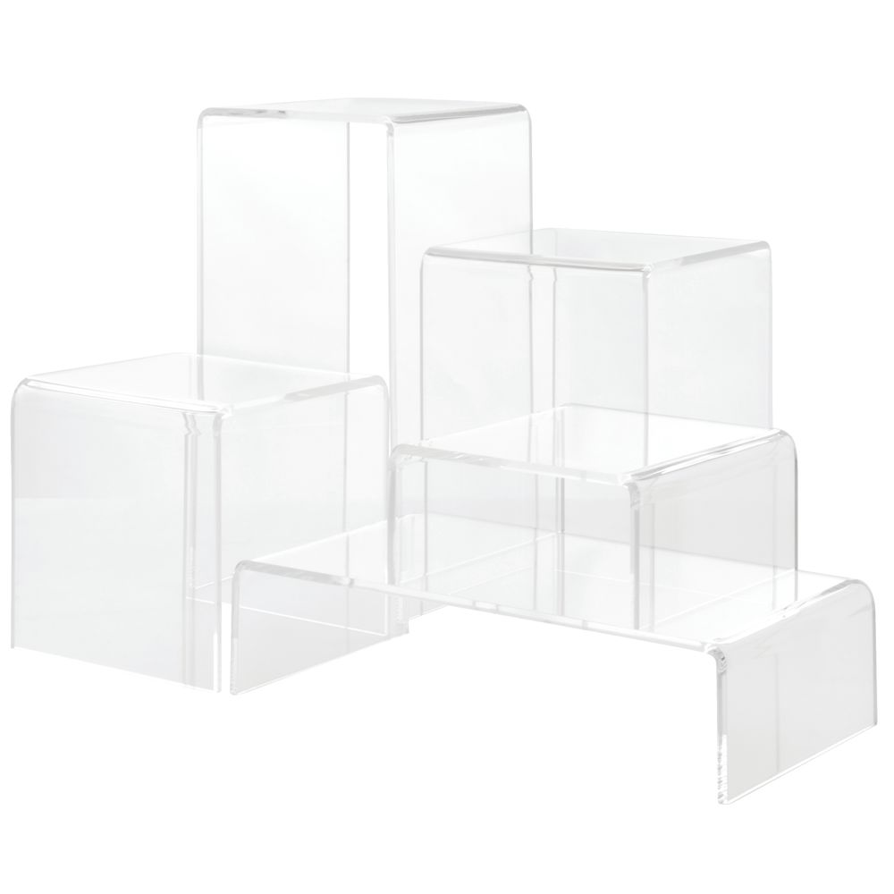 Acrylic Display Risers of Varying Sizing