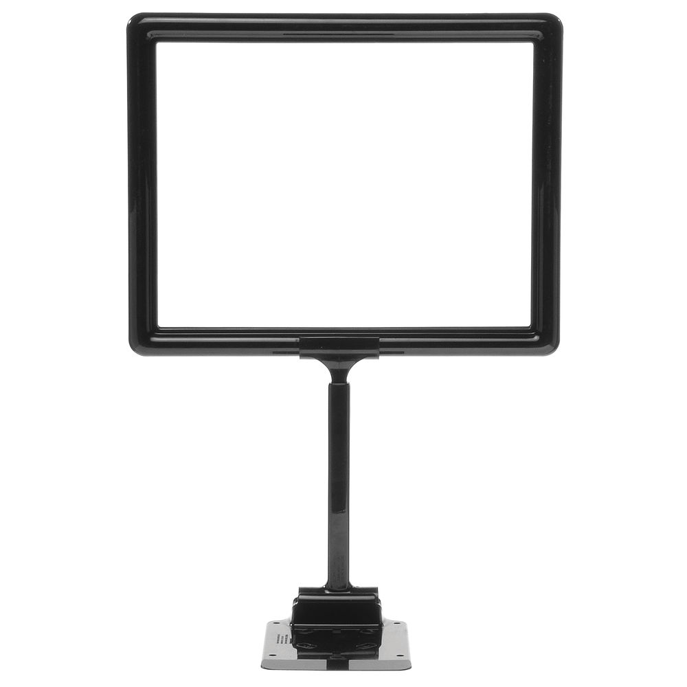 "11 x 8 1/2 Adjustable Sign Holder, Black, Stem 8""-12"""