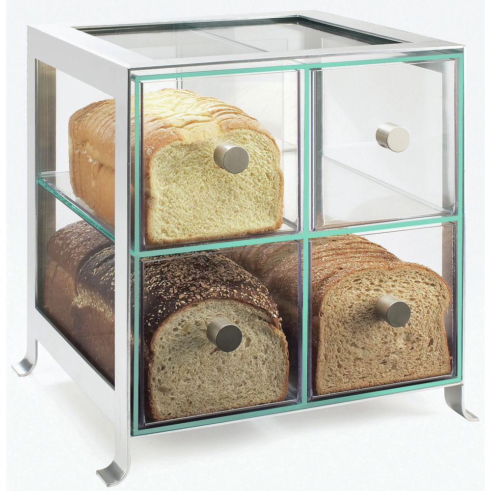 Acrylic Countertop Display Case with Silver Frame