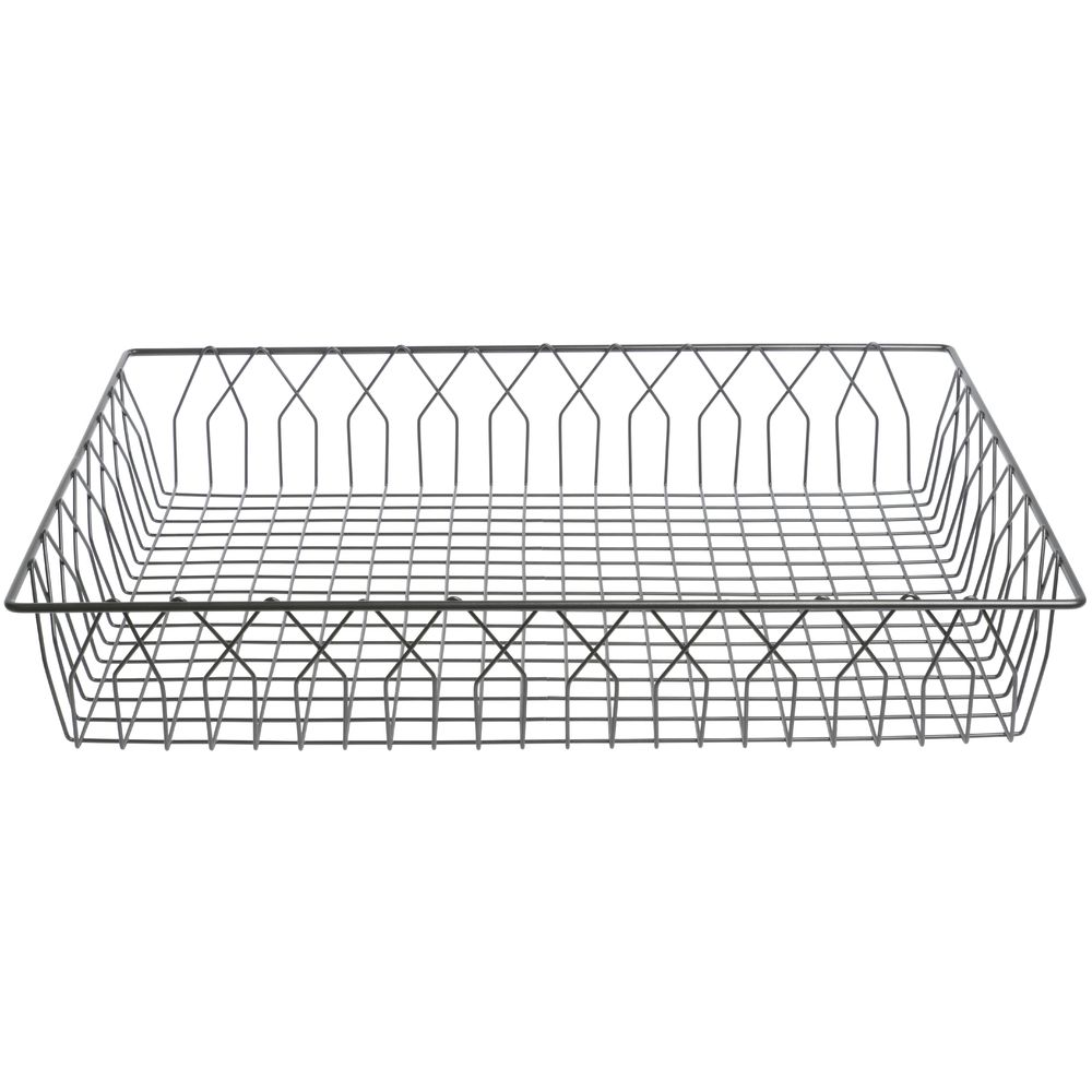 HUBERT Rectangular Nickel Powder-Coated Steel Wire Basket - 24L x ...