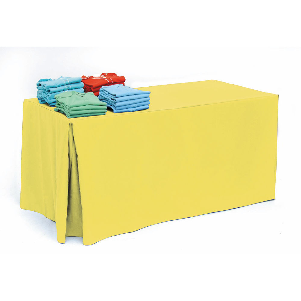 Lemon Fitted Rectangle Tablecloths for 6ft Tables
