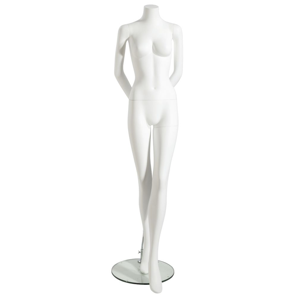 MANNEQUIN, FEMALE, ARMS BEHIND, HDLESS, WHT