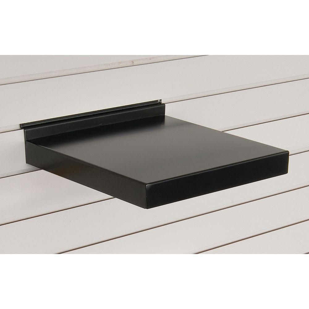 12 Inch Metal Slatwall Shelves, Black