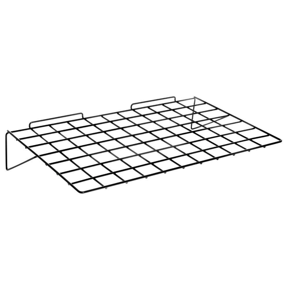 White Wire Shelf for Slatwall 24 x 14