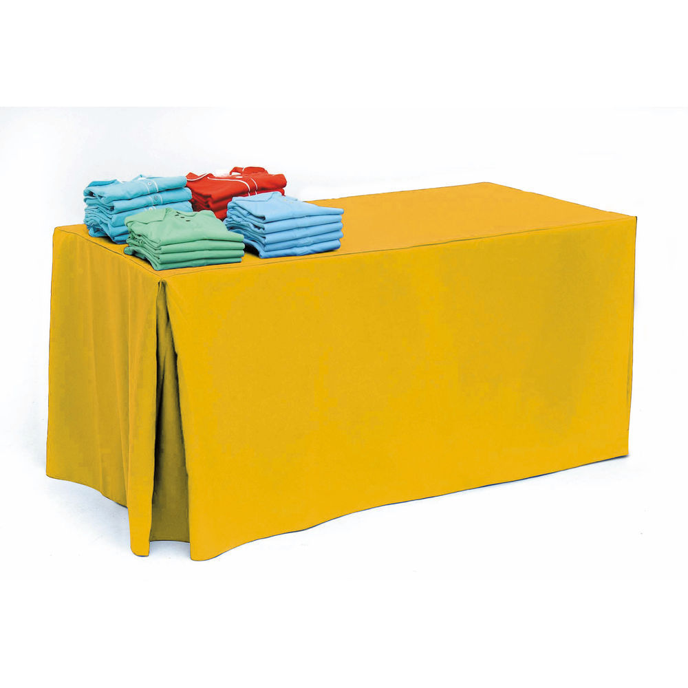 Gold Pleated Tablecloth for 6ft Tables