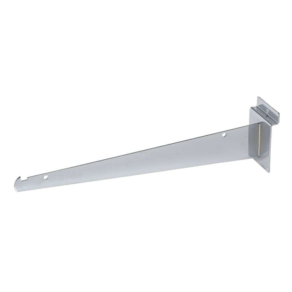 "BRACKET, SLATWALL 12"", KNIFE, CHROME"