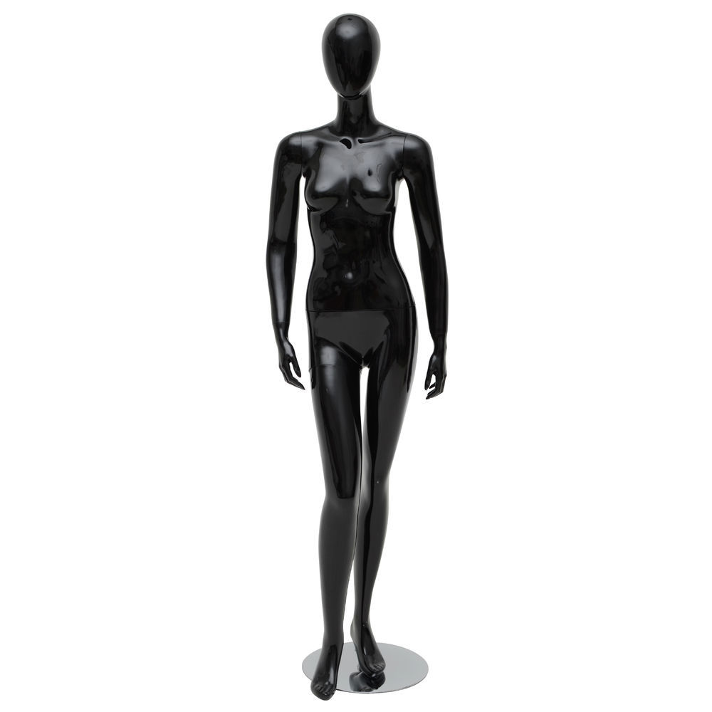 Arms at Side Black Female Mannequin