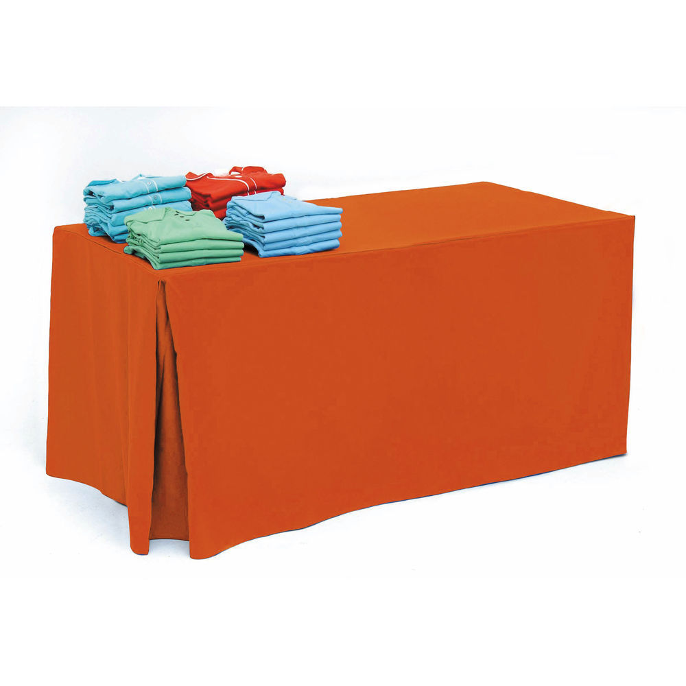 Neon Orange Tablecloth for 6ft Tables