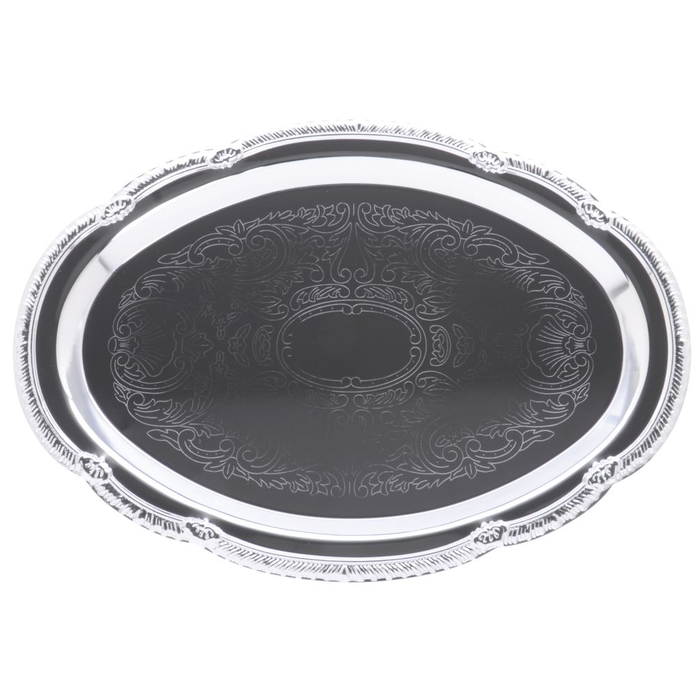 TRAY, SERVING, OVAL, CHROME, 9.5X 6.75