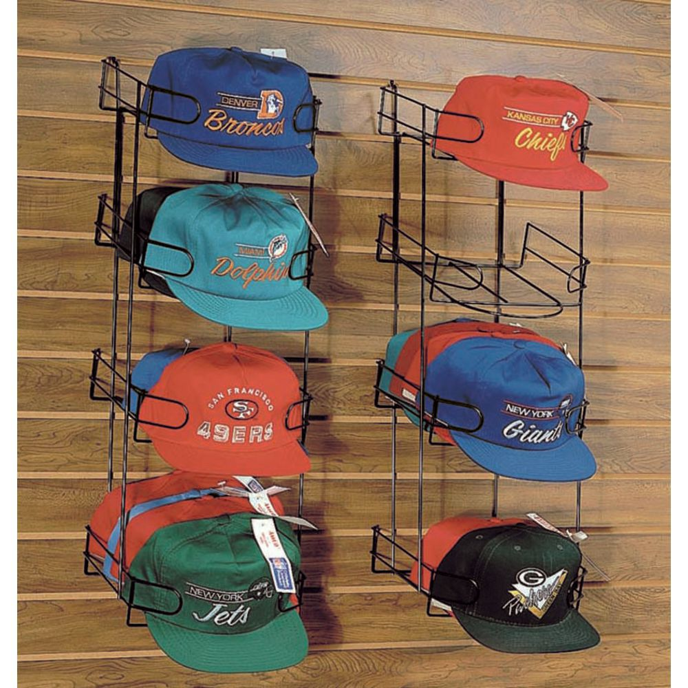 Slatwall Hat Display Features Pockets to Hold Caps
