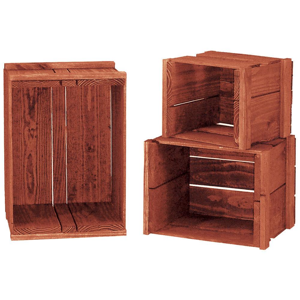 Heavy-Duty Nesting Crate Set, Cherry