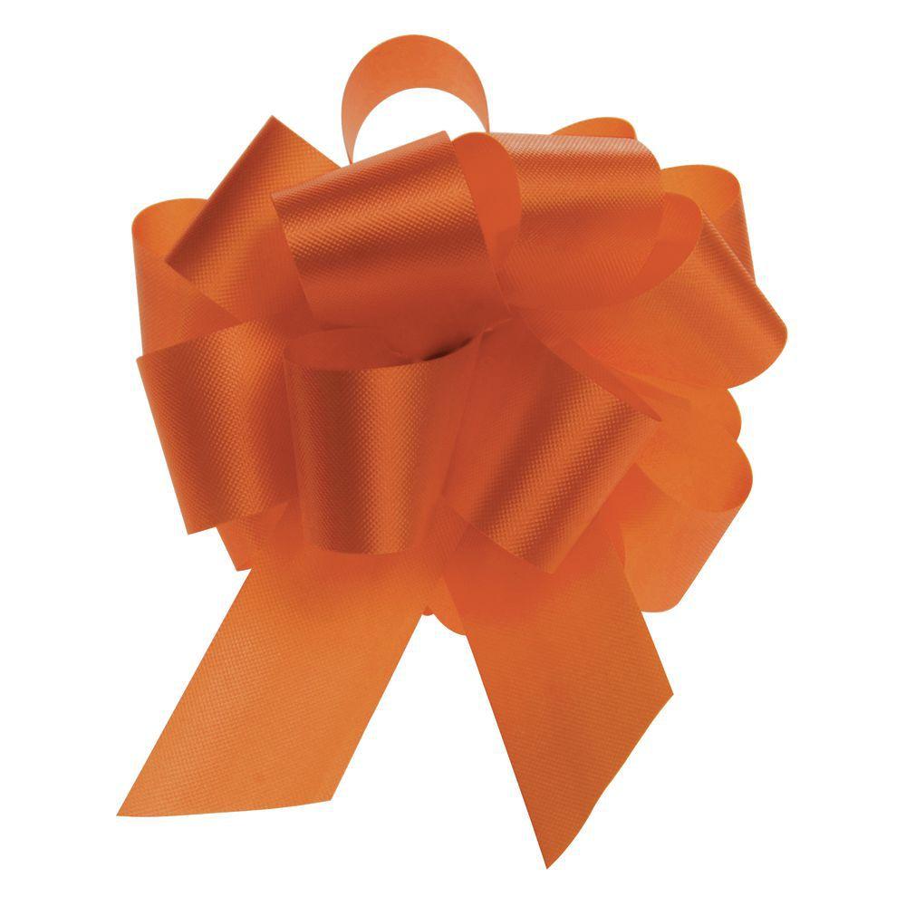 Tropical Orange Flora-Satin Pull Bows