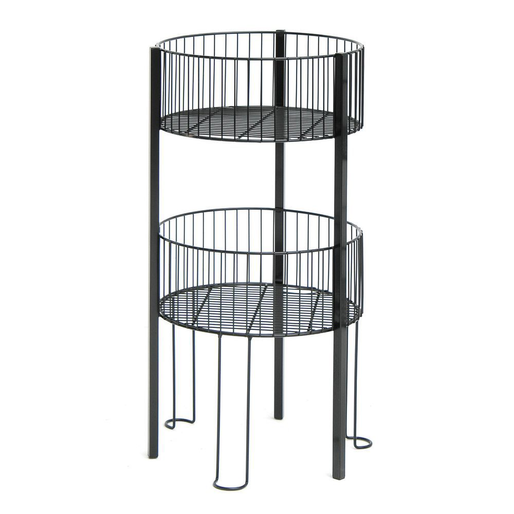 Stackable Wire Bins with Metal Construction