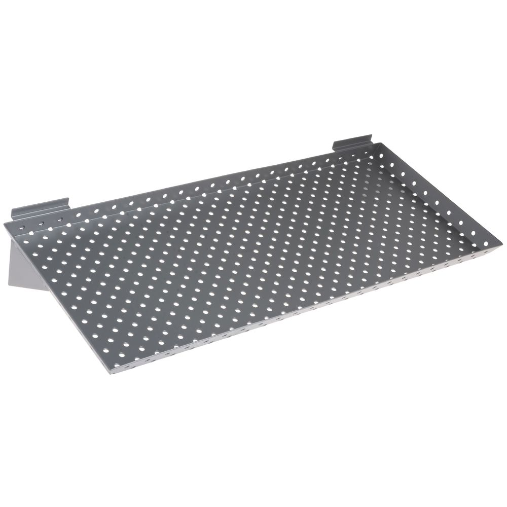 "SHELF, SLATWALL, PERF, METAL, 24"", SILV, PK2"