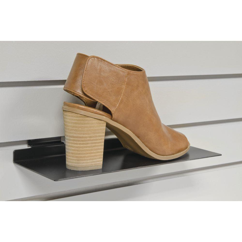 Black Slatwall Shoe Display
