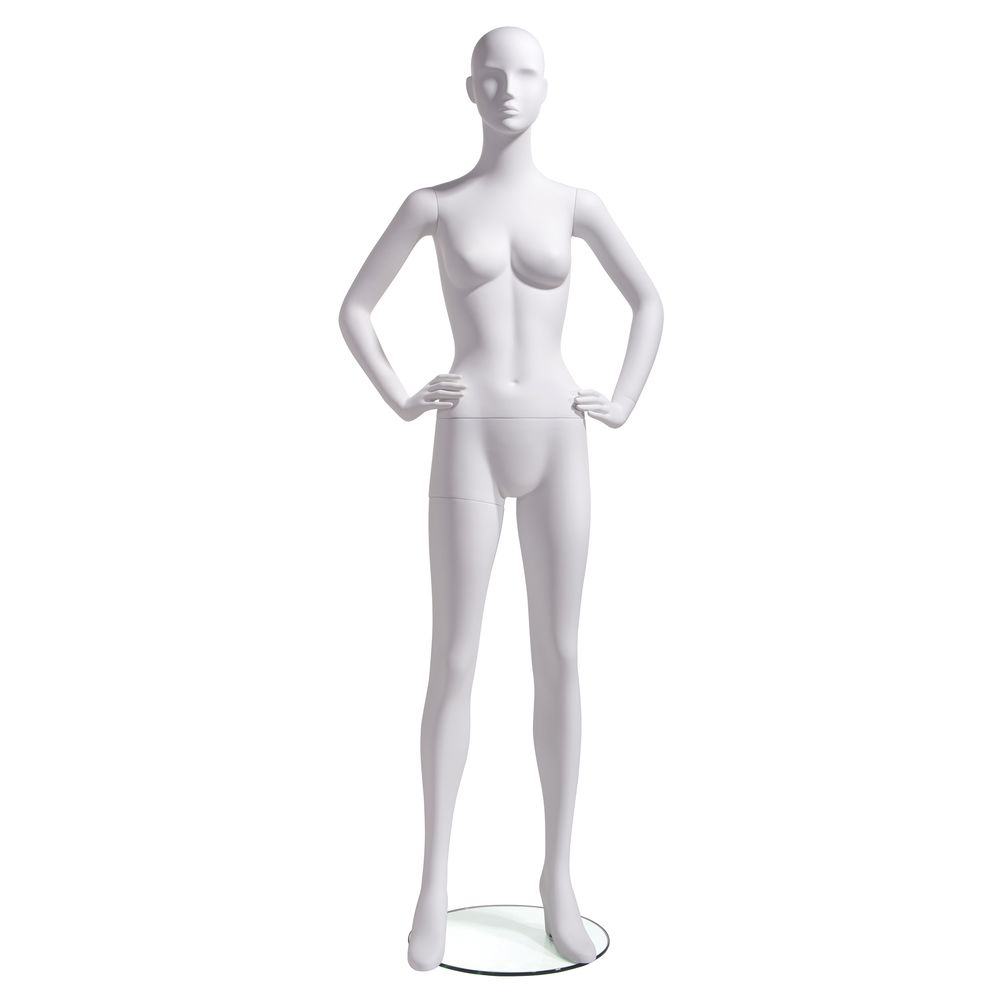 Hands on Hip Fiberglass Mannequin, Female