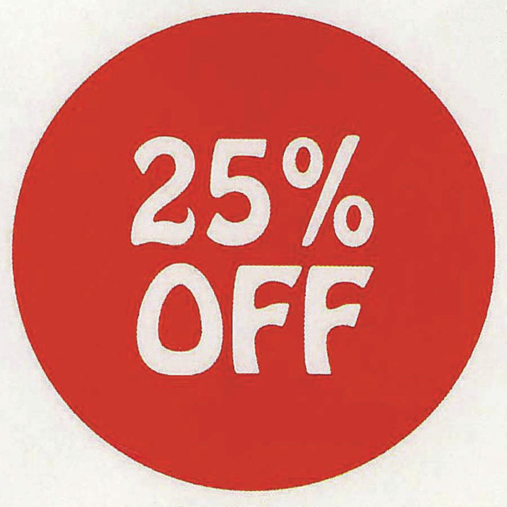 25 30 30 Helloworld: 25% Off Discount Labels