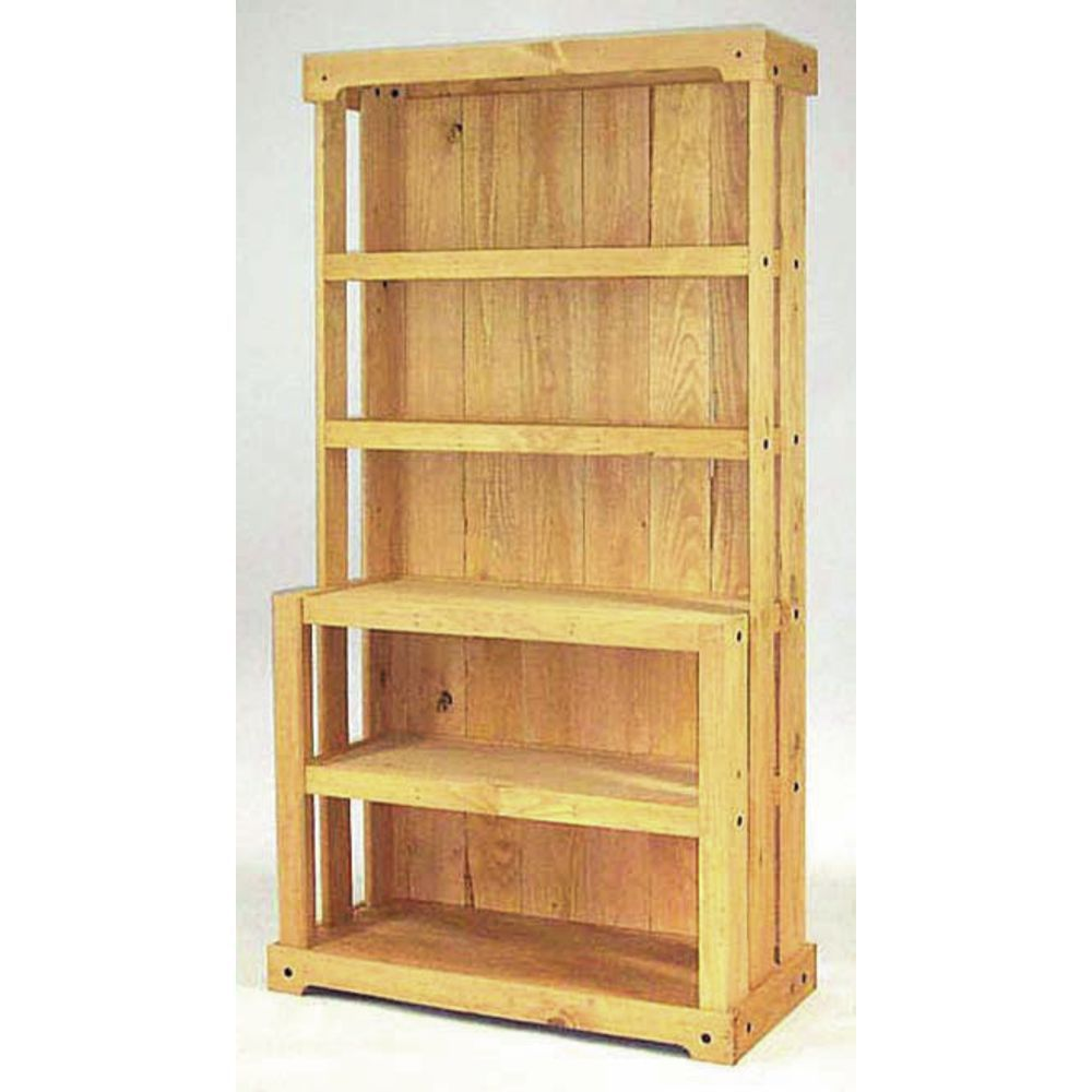 Wooden Shelving Unit with Closed Back