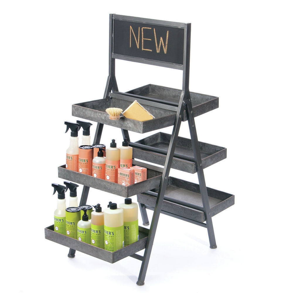 3-Tier Double-Sided Ladder Display