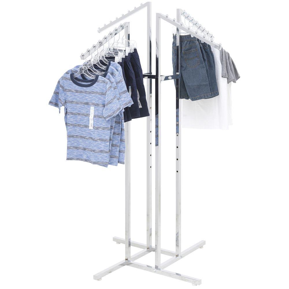 4 Way Clothing Rack Slant Arm