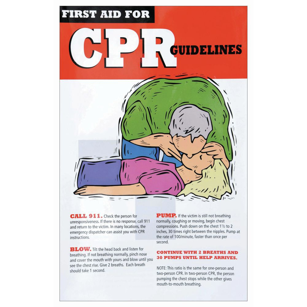 POSTER, FIRST AID, CPR, 11 X 17