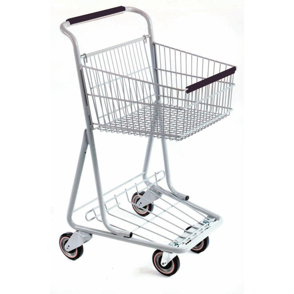 Retail Shopping Carts with Black Handles