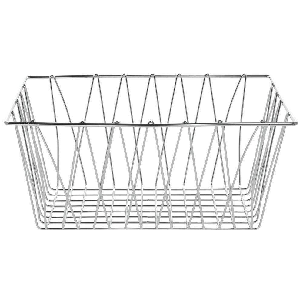 "Hubert Chrome Wire Basket 18""L x 12""W x 8""H"