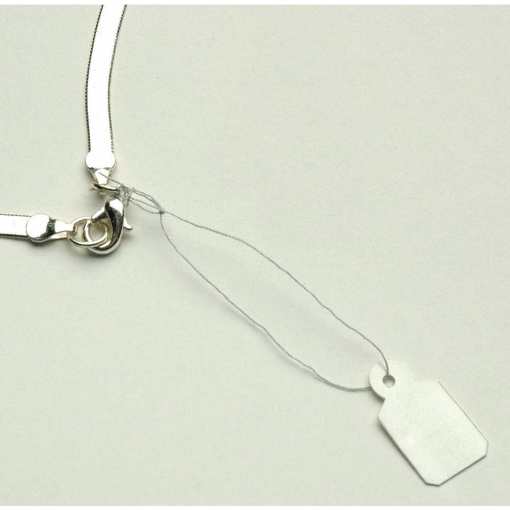 Silver Jewelry Tag, 3/8 x 13/16