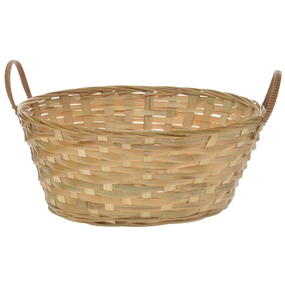 13 x 10 x 5 1/2 Bamboo Gift Basket