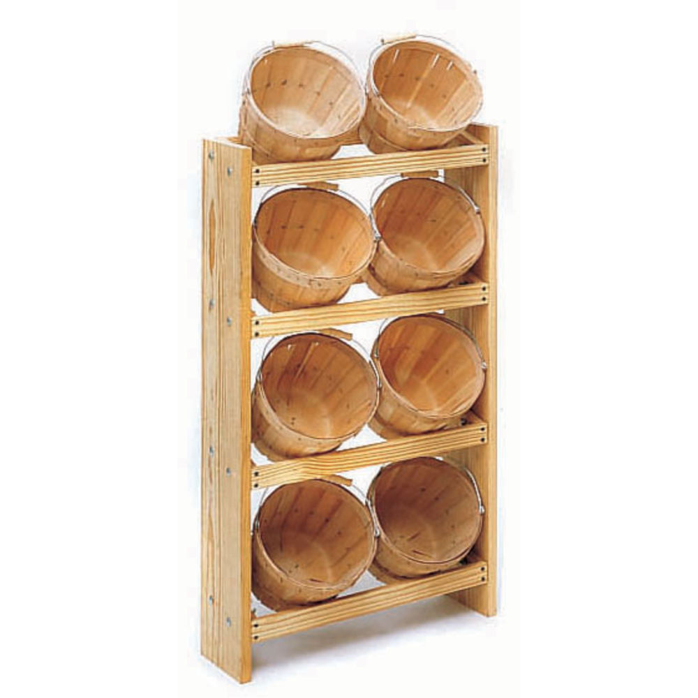 BASKET DISPLAY W/8 BASKETS, 1/2 PECK