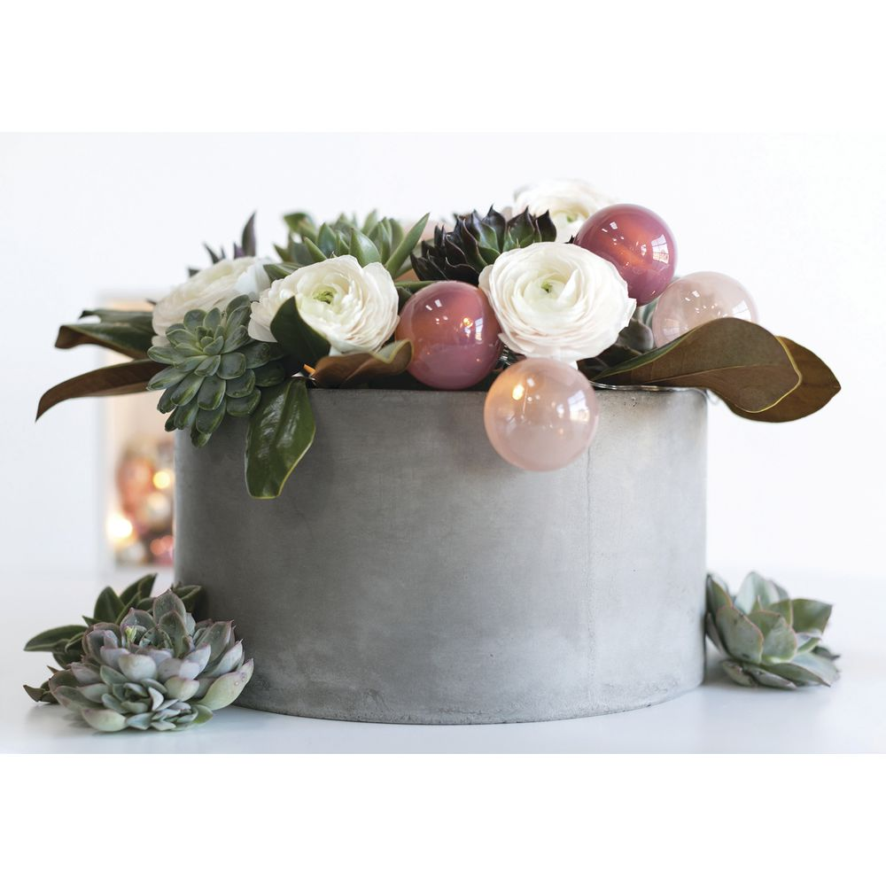 "POT, PULLMAN, CONCRETE + STONE, GREY, 9""H"
