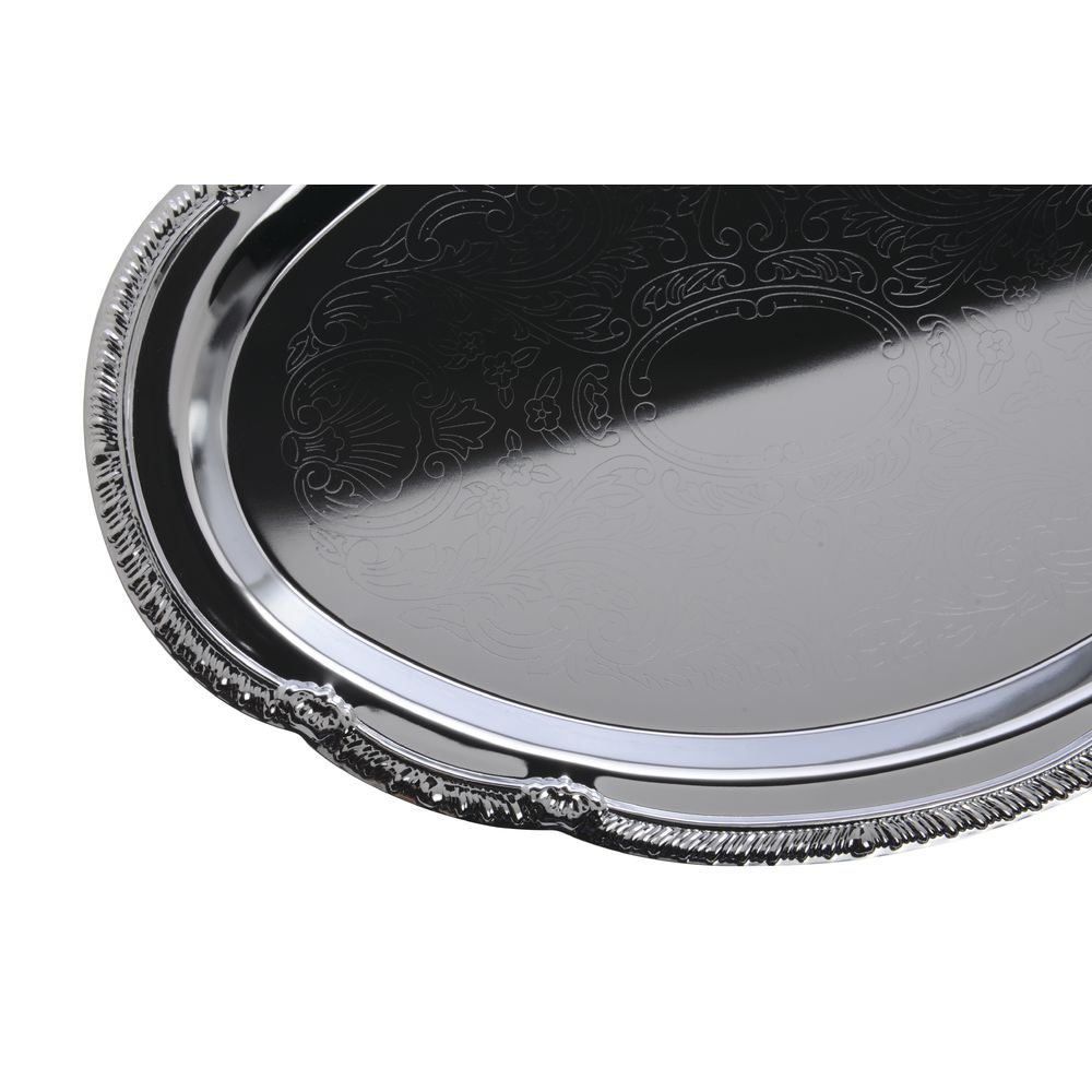 """TRAY, SERVING, OVAL, CHROME, 12""""X 8"""""""